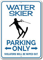 Water Skier Parking Sign, Water Skier Sign, Gift for Water Skier ENSA1002630