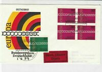 germany 1971 europa stamps cover ref 20247