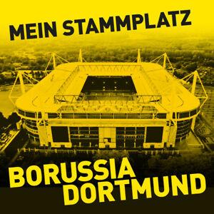 Pflasterstein Betonplatte Borussia Dortmund Motivplatte Stadion BVB 40 x 40 cm