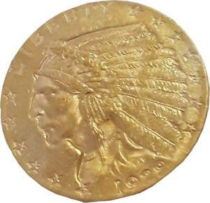 USA 1929 Gold Indian Head $2.5 Quarter Eagle American Coin USA UNC