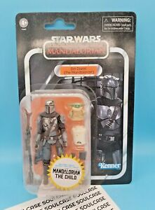 """Din Djarin The Mandalorian with The Child 3.75"""" Vintage Collection Nonmint Card"""