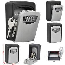 Combination Key Lock Box 4 Digit Password Lock Wall Mount Key Storage Organizer