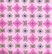 Snow Diamond in Pink Snow Flower by Dena Fabric DF29-Pink Quilt 100% Cotton