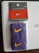 Pair(2)UNISEX NIKE SWOOSH WRISTBANDS NEW-1996-1997 VINTAGE purple Lakers woow