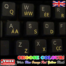 Welsh Transparent Keyboard Stickers Computer for PC Laptop Notebook, 6 Colours