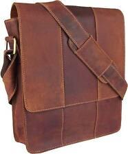 UNICORN Bolsa de cuero genuino - iPad, Tablet accesorios Bolsa - Tan Marrón #5G