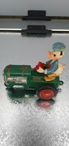 Disney Friction Toy Donald Duck On Tractor 1960's Marx