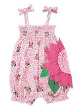 Mud Pie Baby Girl Smocked Rose Bubble Romper 0-3 Months 1132228 Shower Gift NWT