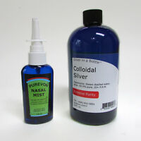 Colloidal Silver- FREE U.S. SHIPPING! - Intro Special Combo Purevon Nasal Mist