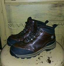 VINTAGE TIMBERLAND BOOTS BROWN LEATHER HIKING MOUNTAINEERING LADIES 5 M TRAIL