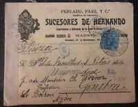 1916 Madrid Spain Commercial Censored Cover To Geneva Switzerland MXE