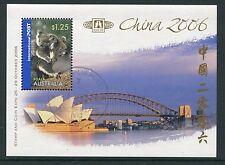 2006 China Stamp & Coin Expo - CTO Flinders Lane Mini Sheet (B)