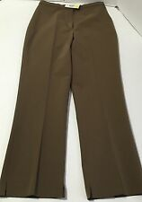 GUNEX Bruno Cucinelli Cropped Flat Front Stretch Pants Slacks Size 42 US 6 New
