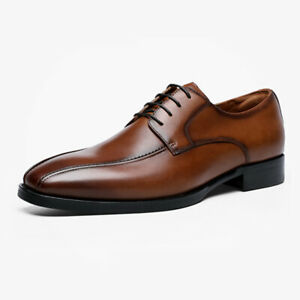 Mens Business Formal Lace Up Oxfords Faux Leather Casual Office Dress Shoes Size