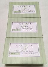 Archive Essentials Green Tea & Willow Bath Soap 2.25oz Each, Set of 3