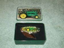 John Deere Collectible Corn Ear Shaped Knife In Tin - Tractor in Corn Field