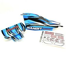 Traxxas 2wd Bandit Body Wing Mount Blue Black White Painted XL5 VXL