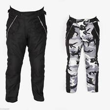 MCW Gear Mens Motorcycle Motorbike Black Camo Textile CE Armoured Pants Trousers