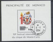 MONACO bloc 29 - CIRQUE CLOWN de 1984 ** OBLITERE 1er JOUR