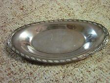 "Vintage Oneida Silversmiths Silverplate Bread Tray 13 1/2"" X 7"" Antiques"