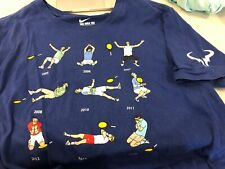 XL Blue Rafael Nadal 9 French Open Championships Celebration T Shirt