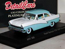 FORD TAUNUS 17M COUPE 1957 WHITE -LIGHT BLUE DETAIL CARS ART 380 1/43