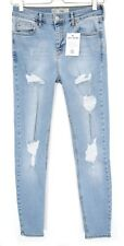 Topshop SUPER SKINNY JAMIE High Waisted RIPPED Blue Jeans Size 12 W30 L30