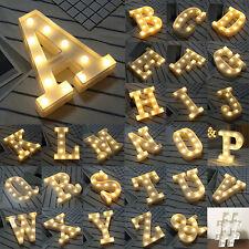 Kids Room 3D LED Night Light Symbol Letter Wall Desktop Decor Gifts Nursery Lamp