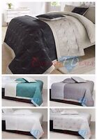 3 Piece Quilted Bedspread Set Throw Comforter Cotton Bed Spread Set Pillow Sham