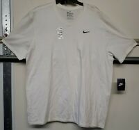 The Nike Tee Mens Size 2XL Short Sleeve Black Embroidered Logo T-Shirt White