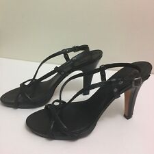 Cole Haan Womens Shoes Black Strappy Pumps Leather Heels Size 10B