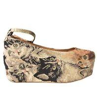 Jeffrey Campbell Havana Last Beebee Cat Tapestry Retro Platform Shoes Size 9