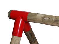 SWING CORNER ROUND beam BRACKET 100Ø 100° climbing frames SWING HOOKS red