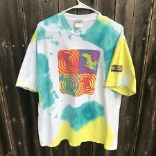 New listing Vintage Austin Powers Hollywood Tie Dye Custom Multicolor Swirl Shirt Mens Xl