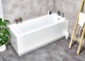Heavy Duty Single Ended Square Bath 1700mm x 700mm/750mm Acrylic Made in UK