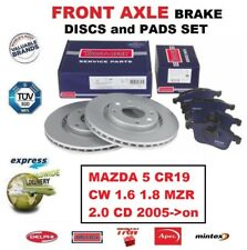 FOR MAZDA 5 CR19 CW 1.6 1.8 MZR 2.0 CD 2005->on FRONT AXLE BRAKE PADS + DISCS