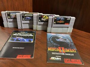 SNES Games Lot With Booklets