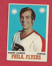 1970-71 TOPPS # 84 FLYERS ANDRE LACROIX  NRMT  CARD