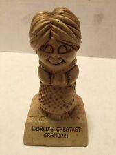 Vintage Paula 1972 W246 USA World's Greatest Grandma Figure Gift Retro Recliner