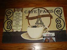 "Anti Fatigue Chef Gear Kitchen Floor Mat Rug 18""x 30""COFFEE  BAR Cafe Paris CUP"