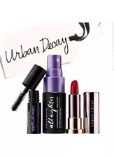 URBAN DECAY MAKEUP SETTING SPRAY VICE LIPSTICK BAD BLOOD MASCARA MINI SET NEW
