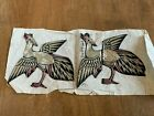 Antique Chinese Embroidered Appliques for panels w/Gold/Silver stitching 1900's