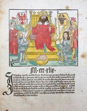 BOTHO CRONECKEN SASSEN KAISER KARL HERZOG MECKLENBURG SCHÖFFER MAINZ 1492 #T3