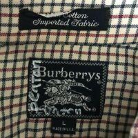 BURBERRY Shirt Mens sz. L Large Classic Button Micro Check Plaid Long Sleeve