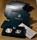 10 - 1995 2pc UNC Civil War Commemorative Silver Dollar and Half Dollar w/ OGP for sale