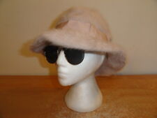 Womens Vintage Light Pink Original KANGOL Angora Bucket Hat Sz-S Made In England
