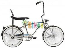 "Micargi Prince, Chrome - Boys' 20"" Lowrider Bike with Banana Seat"