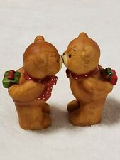 Enesco Lucy & Me Kissing Bears Red Green Christmas Presents 1979