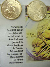 US Münze 1 $ Dollar Geld Money Sammler SACAGAWEA INDIAN Nativ America Serie USA