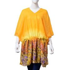 New - Pretty Floral Patterned  Multi Coloured Tunic Top One Size